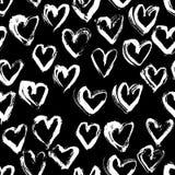 Modello senza cuciture astratto del cuore Illustrazione dell'inchiostro Rebecca 36 Fotografia Stock