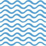 Modello senza cuciture astratto dell'onda di oceano Linea ondulata fondo della banda Immagini Stock Libere da Diritti