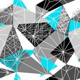MODELLO SENZA CUCITURE ASTRATTO DI VETTORE DEL TRIANGOLO STRUTTURA GEOMETRICA DI COVATA Priorità bassa di disegno di Grunge illustrazione vettoriale