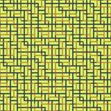 Modello senza cuciture astratto di vettore di intersezione dell'ornamento quadrato immagine stock