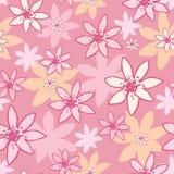 Modello senza cuciture astratto fatto dai fiori rosa Il colore rosa fiorisce la priorità bassa _1 Immagine Stock