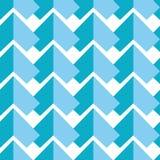 Modello senza cuciture astratto geometrico con due tonalità degli elementi simmetrici degli elementi blu su fondo bianco nel porc Fotografia Stock Libera da Diritti