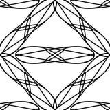 Modello senza cuciture astratto geometrico nero Fotografia Stock Libera da Diritti