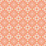 Modello senza cuciture astratto nel colore arancio Fotografia Stock