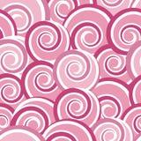 Modello senza cuciture astratto rosa con i turbinii Fotografie Stock