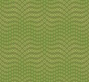 Modello senza cuciture astratto su un fondo verde Ha la forma di un'onda Consiste di intorno alle forme geometriche illustrazione vettoriale