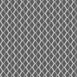 Modello senza cuciture attraversato ondulato 3D delle bande Struttura astratta di modo di vettore Modello monocromatico geometric royalty illustrazione gratis