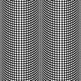 Modello senza cuciture Backgr di vettore in bianco e nero di semitono astratto Immagini Stock