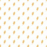 Modello senza cuciture bianco con le foglie arancione-chiaro della quercia Fotografie Stock Libere da Diritti