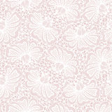 Modello senza cuciture bianco del pizzo del fiore Fotografia Stock Libera da Diritti