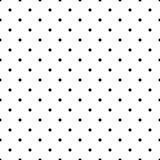 Modello senza cuciture in bianco e nero dei punti di Polka illustrazione vettoriale
