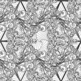 Modello senza cuciture in bianco e nero dell'elemento dell'aria Fotografia Stock