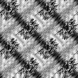 Modello senza cuciture in bianco e nero a strisce astratto 3d Gru di vettore illustrazione di stock