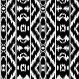 Modello senza cuciture in bianco e nero a strisce etnico Fotografia Stock