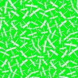 Modello senza cuciture bianco e verde intenso della libellula Fotografia Stock Libera da Diritti