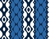 Modello senza cuciture blu astratto di Etpa Fotografia Stock Libera da Diritti