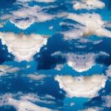 Modello senza cuciture blu celeste astratto Fondo di Skiey fotografie stock