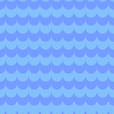 Modello senza cuciture blu con le onde di acqua Fotografia Stock