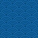 Modello senza cuciture blu dell'onda 3d Fotografia Stock Libera da Diritti