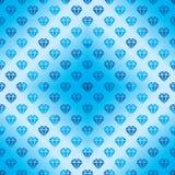 Modello senza cuciture blu di forma del diamante della siluetta del diamante Fotografie Stock Libere da Diritti