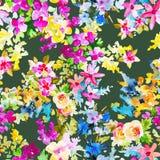 Modello senza cuciture botanico floreale dell'acquerello Buon per stampare Immagine Stock