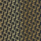 Modello senza cuciture brillante dell'oro geometrico sui precedenti neri royalty illustrazione gratis