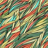 Modello senza cuciture colorato autunnale con marrone nello stile della siluetta per fondo, modello di autunno Fotografia Stock