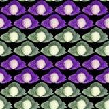 Modello senza cuciture con cavolo viola e verde Pittura dell'acquerello Fotografia Stock