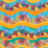 Modello senza cuciture con Coral Reef royalty illustrazione gratis