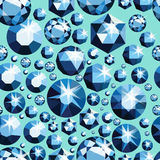 Modello senza cuciture con differenti gioielli Fondo senza cuciture delle pietre preziose Progettazione del diamante Illustrazion illustrazione di stock
