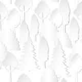 modello senza cuciture con gli alberi ed il recinto illustrazione di stock