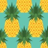 Modello senza cuciture con gli ananas illustrazione vettoriale