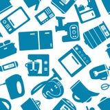 Modello senza cuciture con gli apparecchi elettronici Fotografie Stock