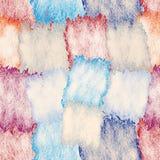 Modello senza cuciture con gli elementi quadrati macchiati e barrati di lerciume nei colori pastelli immagine stock libera da diritti