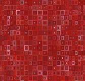 Modello senza cuciture con gli elementi quadrati nel rosso Fondo di illusione illustrazione vettoriale