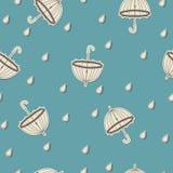 Modello senza cuciture con gli ombrelli Fotografia Stock Libera da Diritti