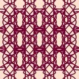 Modello senza cuciture con gli ornamenti geometrici Immagini Stock