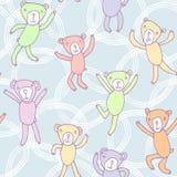 Modello senza cuciture con gli orsi divertenti di dancing Immagini Stock