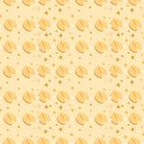Modello senza cuciture con i biscotti di fortuna sui precedenti beige fotografia stock libera da diritti