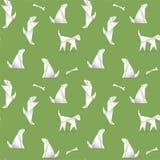 Modello senza cuciture con i cani, fatti nello stile degli origami Immagine Stock Libera da Diritti