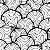 Modello senza cuciture con i ceppi di legno Fondo per silvicoltura ed industria del legname royalty illustrazione gratis