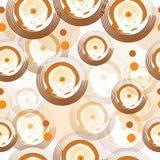 Modello senza cuciture con i cerchi astratti nei colori marroni Immagine Stock Libera da Diritti