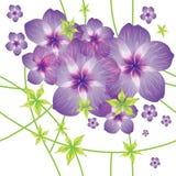 Modello senza cuciture con i fiori illustrazione di stock