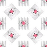 Modello senza cuciture con i fiori per tessuto, tessuto, copertina di libro, panno Rapporto d'annata della carta da parati Orname royalty illustrazione gratis