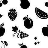 Modello senza cuciture con i frutti neri Illustrazione di vettore royalty illustrazione gratis