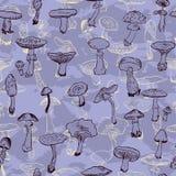 Modello senza cuciture con i funghi royalty illustrazione gratis