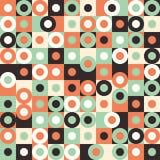 Modello senza cuciture con i grandi cerchi multicolori ed i quadrati Immagini Stock Libere da Diritti