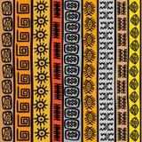 Modello senza cuciture con i motivi africani etnici illustrazione di stock