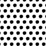 Modello senza cuciture con i piccoli punti disegnati a mano di scarabocchio Fotografia Stock