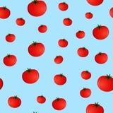Modello senza cuciture con i pomodori Fotografie Stock